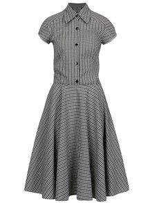 Modro-šedé kostkované košilové šaty SEVERANKA