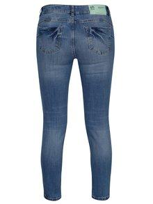 Modré zkrácené slim džíny s potrhaným efektem SH Armaze