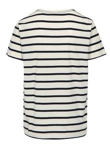 Bílé pruhované pánské tričko s krátkým rukávem GANT