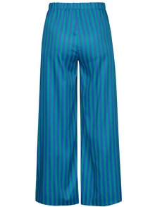 Pantaloni evazati cu dungi albastru & verde - SH Rebucas
