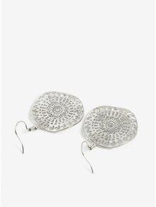 Cercei metalici argintii rotunzi Pieces Didde