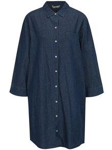 Tmavé modré košilové šaty SH Bofete
