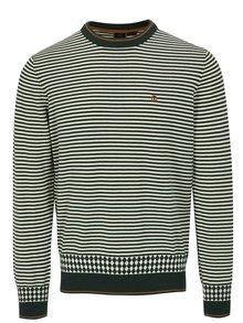 Zelený pruhovaný sveter Merc