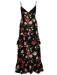 Rochie maxi cu print floral si volane - SH Refente