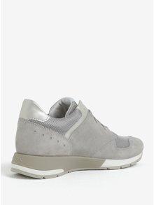 Pantofi sport gri cu argtiniu pentru femei Geox Shahira