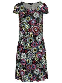 Modro-černé vzorované šaty Yest