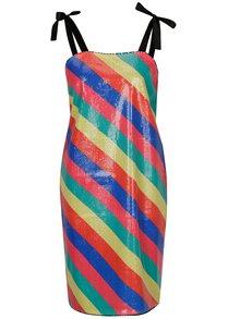 Rochie cu paiete multicolore si model cu dungi - SH Bombinas