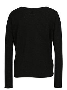 Čierny tenký sveter s véčkovým výstrihom SH Airana