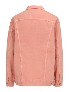 Jacheta roz din denim cu print discret - SH Refente