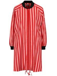Červeno-růžová pruhovaná lehká bunda SH Realeza