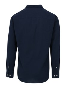 Tmavě modrá slim fit košile s dlouhým rukávem Selected Homme Done Summer