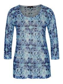 Modrý tenký vzorovaný sveter Yest