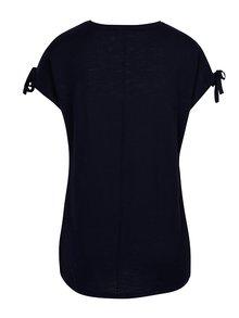 Tmavomodré tričko s prestrihmi na ramenách Yest