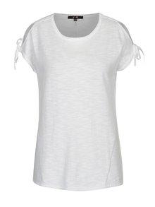 Biele tričko so sťahovaním na rukávoch Yest