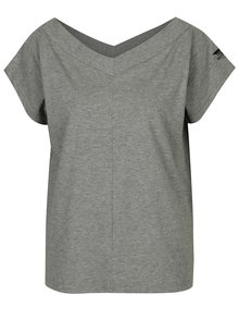 Sivé dámske tričko s véčkovým výstrihom Cheap Monday