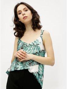 Top alb&verde cu print tropical Haily´s Aria