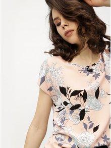 Růžové květované tričko s krátkým rukávem Haily´s Julie