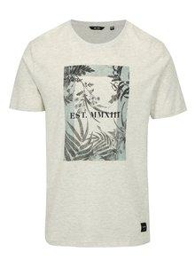 Svetlosivé melírované tričko s potlačou ONLY & SONS Skylar