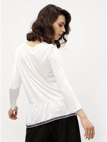 Bluza peplum alba cu terminatie contrastanta- Haily´s Leonora