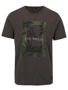 Šedé tričko s potiskem ONLY & SONS Skylar