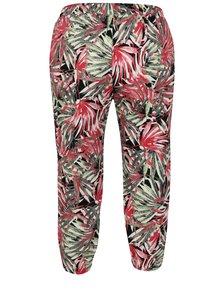 Pantaloni cu print multicolor si snur in talie Yest