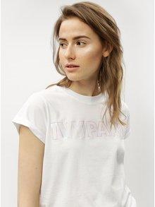 Bílé oversize tričko s potiskem Ivy Park