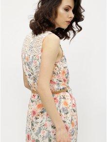 Rochie crem cu print floral si macrame Haily´s Jana