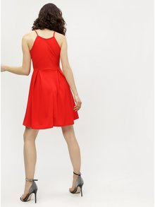 Rochie halter rosie cu model discret Haily´s Lolly