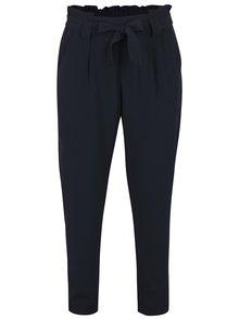 Tmavě modré zkrácené kalhoty s vysokým pasem Jacqueline de Yong Dakota