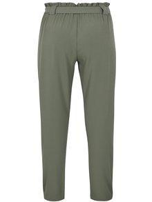 Olivově zelené kalhoty s vysokým pasem Jacqueline de Yong Dakota