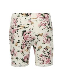 Pantaloni scurti albi cu print floral  Haily´s Sabina