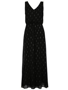 Černé vzorované maxišaty s véčkovým výstřihem ONLY Linette