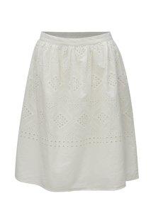 Biela sukňa s madeirou VILA Simmi