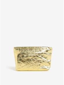 Geanta cosmetice aurie din piele naturala - Vagabond Marbella