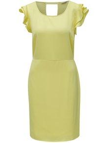 Žluté šaty s volány a průstřihem na zádech VILA Occasion c82b7fe315