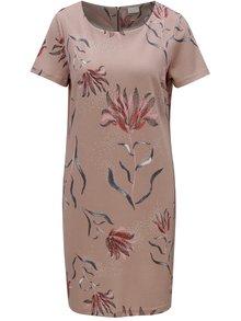Staroružové kvetované šaty s krátkym rukávom VILA Tinny