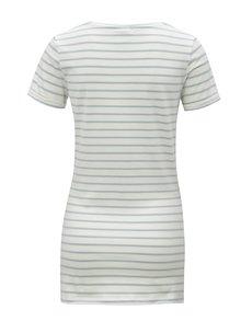 Tricou alb din bumbac organic cu print pentru femei insarcinate - Mama.licious Heart
