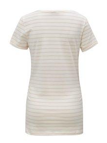Tricou alb din bumbac organic cu dungi pentru femei insarcinate - Mama.licious Heart