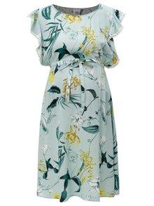 Rochie bleu cu volane si print floral - Mama.licious Lemonade