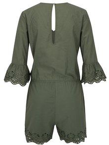 Salopeta verde inchis cu maneci clopot si perforatii -  Noisy May Vanja