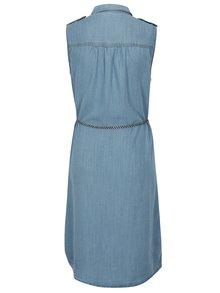 Světle modré košilové šaty s páskem ONLY Arizona