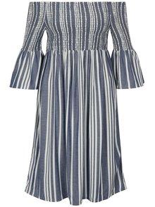 Rochie cu decolteu amplu si dungi albastru & alb - Jacqueline de Yong Celest