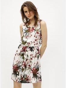 Zeleno-bílé vzorované šaty VERO MODA Simply