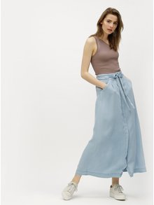 Světle modrá maxi sukně VERO MODA Breeze