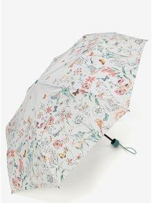 Světle šedý květovaný deštník Esprit Super mini Valentine