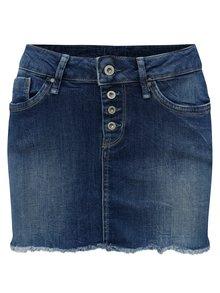 Modrá rifľová regular minisukňa Pepe Jeans Sparrow