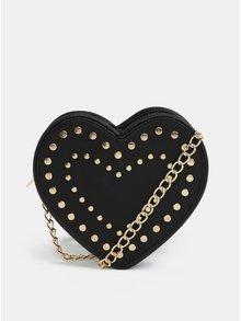 Čierna crossbody kabelka v tvare srdca Fornarina Valentine