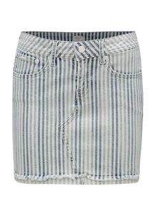 Modro-krémová rifľová minisukňa Pepe Jeans Amelia