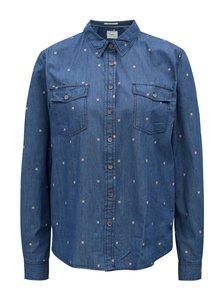 Modrá dámska rifľová košeľa Pepe Jeans Layla
