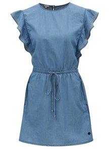 Modré rifľové šaty s volánmi Pepe Jeans Glade